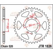 SPROCKET REAR 40T 520 | Fabrikantcode: JTR1826.40 | Fabrikant: JT SPROCKETS | Cataloguscode: JTR1826-40
