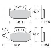 Remblokken BOMBARDIER 400 Outlander (7535/7716) 03-04 vooraan rechts.