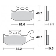 Remblokken CANNONDALE 400 FX 01 achteraan.