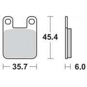 Motomaster Brakepad 0905 | Remblokken DB2120 / EBC FA115 / Moto-Master 0905
