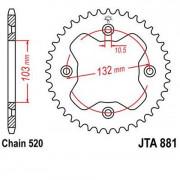 KTM Tandwiel achteraan 38 tanden staal.