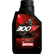 Motul olie 300V 5W40 1Liter Off-Road (100%-Synthetisch).