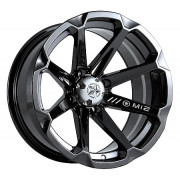"Alu Wheel MSA M12/DIESEL Afmetingen H*B....14*7"" Offset....4+3"" Steekmaat.... 4/110mm Kleur....Black"