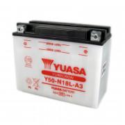Accu / Battery Y50-N18L-A3 | Fabrikantcode: YUAM228A3 | Fabrikant: YUASA | Cataloguscode: Y50-N18L-A3