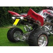 Doma dubbele uitlaat Yamaha Raptor 700
