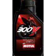 MOTUL 15W50 300V Volsynthetische Race Olie 1Liter. (1doos)