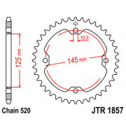 SPROCKET REAR 520 36T| Artikelnr: 12101361| Fabrikant:JT SPROCKETS
