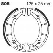 EBC | BRAKE SHOE PLAIN SERIES ORGANIC |Artikelcode: 805 |Cataloguscode: 1723-0245