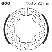 EBC | BRAKE SHOE PLAIN SERIES ORGANIC |Artikelcode: 806 |Cataloguscode: 1723-0246