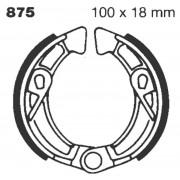 EBC | BRAKE SHOE PLAIN SERIES ORGANIC |Artikelcode: 875 |Cataloguscode: 1723-0257