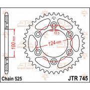 JT SPROCKETS | JTR745.38 REAR REPLACEMENT SPROCKET / 38 TEETH / 525 PITCH / NATURAL / STEEL | Artikelcode: JTR745.38 | Catalogus