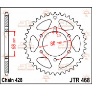 JT SPROCKETS | JTR468.46 REAR REPLACEMENT SPROCKET / 46 TEETH / 428 PITCH / NATURAL / STEEL | Artikelcode: JTR468.46 | Catalogus
