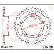 JT SPROCKETS | JTR28.42 REAR REPLACEMENT SPROCKET / 42 TEETH / 520 PITCH / NATURAL / C49 HIGH CARBON STEEL | Artikelcode: JTR28.