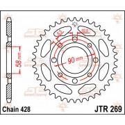 JT SPROCKETS | JTR269.51 REAR REPLACEMENT SPROCKET / 51 TEETH / 428 PITCH / NATURAL / C49 HIGH CARBON STEEL | Artikelcode: JTR26