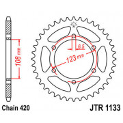 JT SPROCKETS | JTR1133.53ZBK REAR REPLACEMENT SPROCKET / 53 TEETH / 420 PITCH / NATURAL / C49 HIGH CARBON STEEL | Artikelcode: J