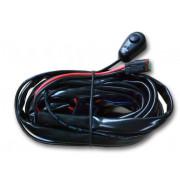 Extreme aansluitset voor 1 led lamp met bedieningsknop, relais en zekering.