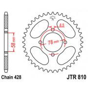 JT SPROCKETS | JTR810.47ZBK REAR REPLACEMENT SPROCKET / 47 TEETH / 428 PITCH / BLACK / C49 HIGH CARBON STEEL | Artikelcode: JTR8