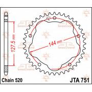 JT SPROCKETS | JTA751.36 REAR LIGHTWEIGHT SPROCKET / 36 TEETH / 520 PITCH / NATURAL / STEEL | Artikelcode: JTA751.36 | Catalogus