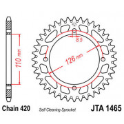 JT SPROCKETS | JTA1465.46 REAR LIGHTWEIGHT SPROCKET / 46 TEETH / 420 PITCH / NATURAL / 7075-T6 ALUMINIUM ALLOY | Artikelcode: JT