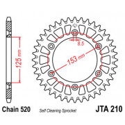 JT SPROCKETS | JTA210.45 REAR LIGHTWEIGHT SPROCKET / 45 TEETH / 520 PITCH / NATURAL / ALUMINIUM | Artikelcode: JTA210.45 | Catal