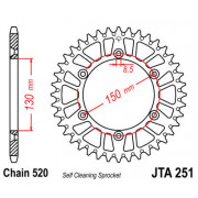 JT SPROCKETS | JTA251.49 REAR LIGHTWEIGHT SPROCKET / 49 TEETH / 520 PITCH / NATURAL / ALUMINIUM | Artikelcode: JTA251.49 | Catal
