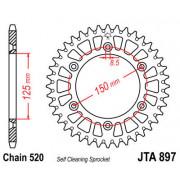 JT SPROCKETS | JTA897.49 REAR LIGHTWEIGHT SPROCKET / 49 TEETH / 520 PITCH / NATURAL / 7075-T6 ALUMINIUM ALLOY | Artikelcode: JTA