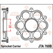 JT SPROCKETS | JT SPROCKETS REAR SPROCKET CARRIER / ALUMINUM / DUCATI | Artikelcode: JTA760B | Cataloguscode: 1211-0989