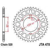 JT SPROCKETS | JTA478.47 REAR LIGHTWEIGHT SPROCKET / 47 TEETH / 520 PITCH / NATURAL / 7075-T6 ALUMINIUM ALLOY | Artikelcode: JTA