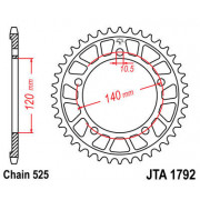 JT SPROCKETS | JTA1792.44 REAR LIGHTWEIGHT SPROCKET / 44 TEETH / 525 PITCH / NATURAL / C49 HIGH CARBON STEEL | Artikelcode: JTA1