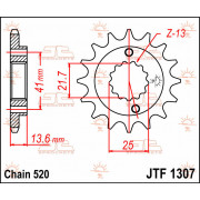 JT SPROCKETS | JTF1307.15 FRONT REPLACEMENT SPROCKET / 15 TEETH / 520 PITCH / NATURAL / STEEL | Artikelcode: JTF1307.15 | Catalo