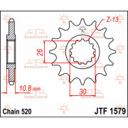 JT SPROCKETS | JTF1579.17 FRONT REPLACEMENT SPROCKET / 17 TEETH / 520 PITCH / NATURAL / STEEL | Artikelcode: JTF1579.17 | Catalo