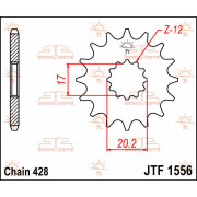 JT SPROCKETS | JTF1556.12 FRONT REPLACEMENT SPROCKET / 12 TEETH / 428 PITCH / NATURAL / STEEL | Artikelcode: JTF1556.12 | Catalo