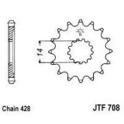 JT SPROCKETS | JTF708.14 FRONT REPLACEMENT SPROCKET / 14 TEETH / 428 PITCH / NATURAL / CHROMOLY STEEL ALLOY | Artikelcode: JTF70