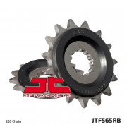 JT SPROCKETS | JTF565.15RB FRONT RUBBER CUSHIONED SPROCKET / 15 TEETH / 520 PITCH / NATURAL / SCM420/20CRMO CHROMOLY STEEL ALLOY