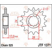 JT SPROCKETS | JTF1371.15 FRONT REPLACEMENT SPROCKET / 15 TEETH / 525 PITCH / NATURAL / STEEL | Artikelcode: JTF1371.15 | Catalo