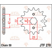 JT SPROCKETS | JTF278.17 FRONT REPLACEMENT SPROCKET / 17 TEETH / 530 PITCH / NATURAL / STEEL | Artikelcode: JTF278.17 | Catalogu