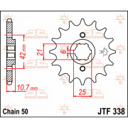 JT SPROCKETS | JTF338.17 FRONT REPLACEMENT SPROCKET / 17 TEETH / 530 PITCH / NATURAL / STEEL | Artikelcode: JTF338.17 | Catalogu