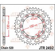 JT SPROCKETS | JTR245/2.43 REAR REPLACEMENT SPROCKET / 43 TEETH / 520 PITCH / NATURAL / C49 HIGH CARBON STEEL | Artikelcode: JTR