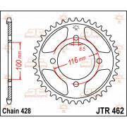 JT SPROCKETS | JTR462.54 REAR REPLACEMENT SPROCKET / 54 TEETH / 428 PITCH / NATURAL / C49 HIGH CARBON STEEL | Artikelcode: JTR46