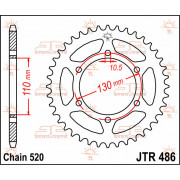 JT SPROCKETS | JTR486.44 REAR REPLACEMENT SPROCKET / 44 TEETH / 520 PITCH / NATURAL / STEEL | Artikelcode: JTR486.44 | Catalogus