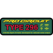 PRO CIRCUIT | EXHAUST STICKER TYPE 296 | Artikelcode: DCTYPE296 | Cataloguscode: 1860-0637