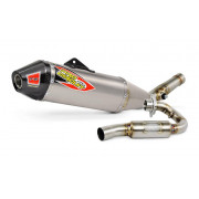 PRO CIRCUIT | T-6 EURO EXHAUST SYSTEM WITH TITANIUM CANISTERS & CARBON END CAP | Artikelcode: 0111415H | Cataloguscode: 1820-154