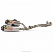 PRO CIRCUIT | TI-6 PRO DUAL EXHAUST SYSTEM TITANIUM WITH CARBON END CAP | Artikelcode: 0311425FP2 | Cataloguscode: 1820-1551