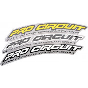 PRO CIRCUIT | FRONT FENDER DECAL WHITE | Artikelcode: DC0010 | Cataloguscode: PCDC0010