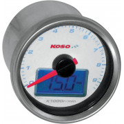 KOSO NORTH AMERICA | TACHOMETER HD01 ELECTRONIC WITH OIL PRESSURE GAUGE | Artikelcode: BB551B20 | Cataloguscode: 2211-0078