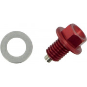 Moose Racing artikelnummer: 09200048 - DRAIN PLUG MAGNETIC RED