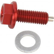 Moose Racing artikelnummer: 09200065 - DRAIN PLUG MAGNETIC RED